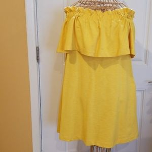 H&M YELLOW OFF THE SHOULDER DRESS